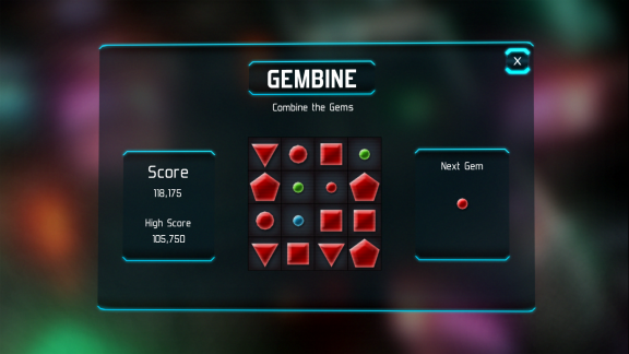 gembine screenshot with blue gem